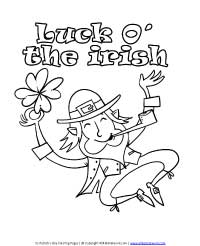 Luck O' the Irish Coloring Page