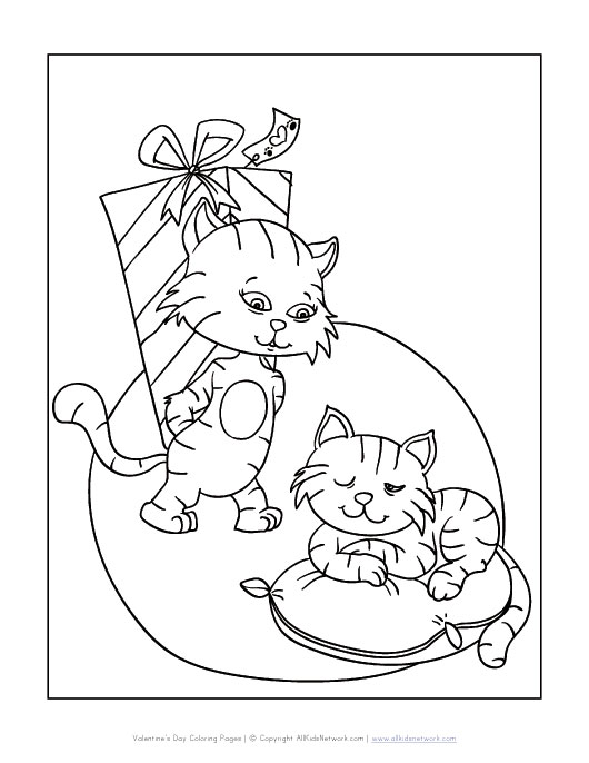 view and print your cats valentine puppy with kitten coloring pages day - Clifford Puppy Days Coloring Pages