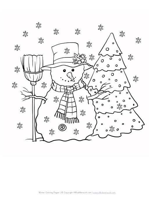 winter snowman coloring pages - photo#31