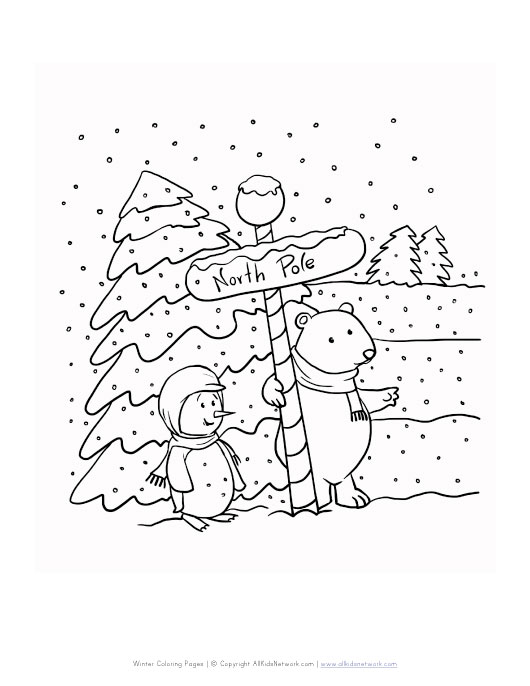 free north pole coloring pages - photo#25