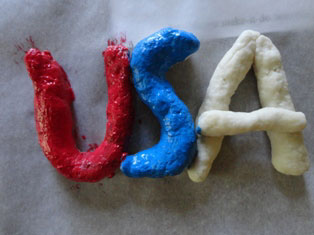 USA magnet craft