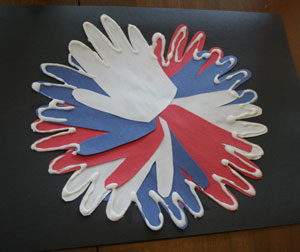 kids fourth of july fireworks craft