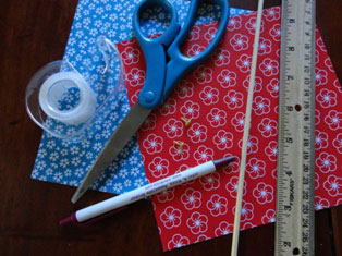 patriotic pinwheels materials