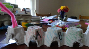 alphabet egg carton caterpillar step 10