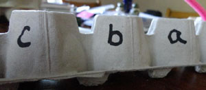 alphabet egg carton caterpillar step 9