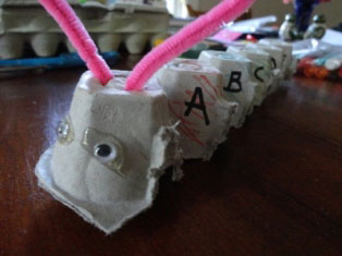 alphabet caterpillar craft