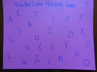 alphabet game step 1
