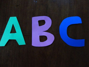 alphabet letters craft