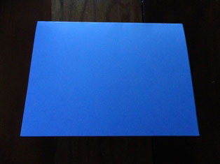 colored cardstock card