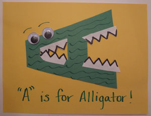 letter a alligator craft