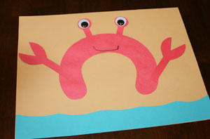 letter c crab craft