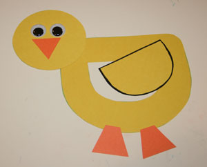 letter d duck craft