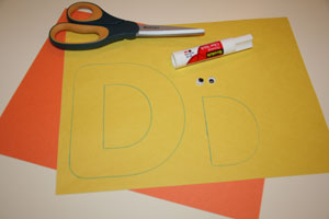 letter d duck craft materials