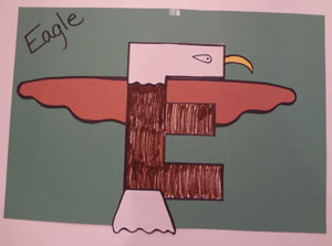 letter e eagle craft