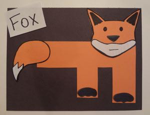 letter f craft fox