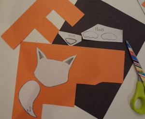 making alphabet fox craft