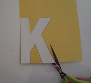 letter k craft step 1