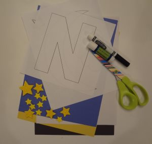 letter n night craft materials