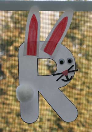 letter r rabbit craft for kids