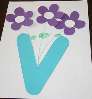 v alphabet craft