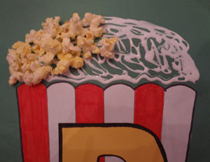 Letter P Popcorn Craft All Kids