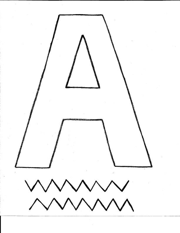 Letter A Alligator template
