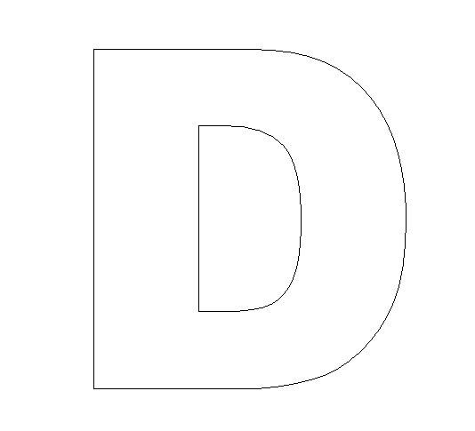 Pin Letter D Template On Pinterest