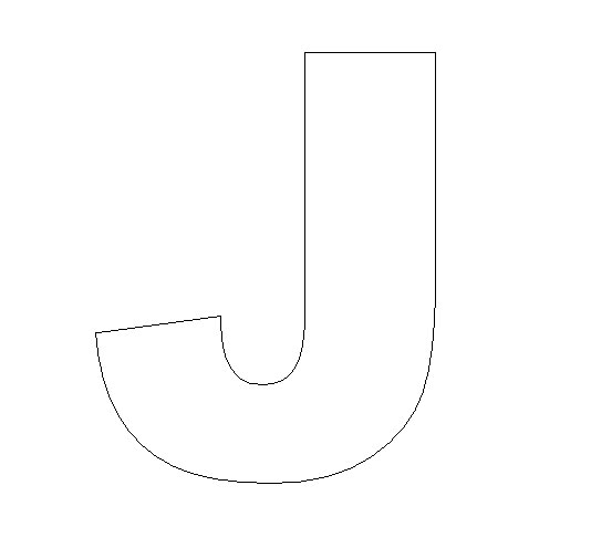 Board craft crafts print your letter j template all kids network