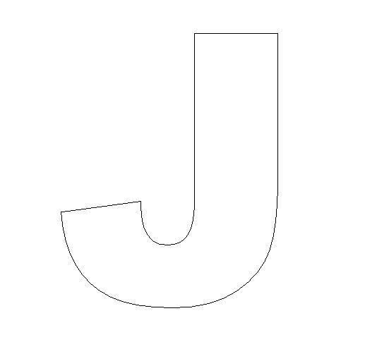 letter J Color letter J Letter J Printables letter j template letter ...