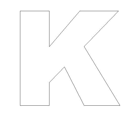 Alphabet Felt Board Craft Crafts - Print your Letter K Template | All ...