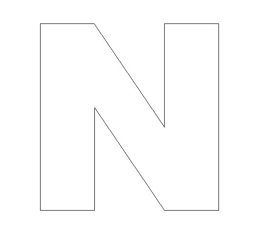 Letter N Craft Your letter n template at