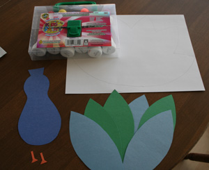 peacock craft materials