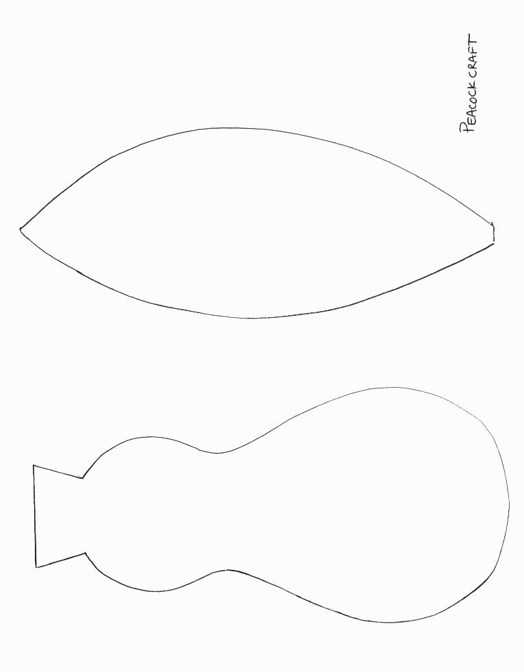 Peacock body outline - photo#27