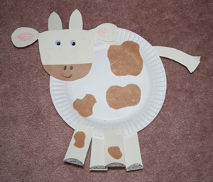 kids cow craft