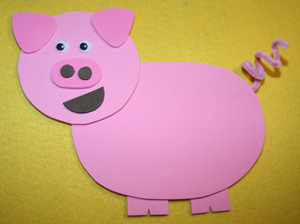 kids pig craft