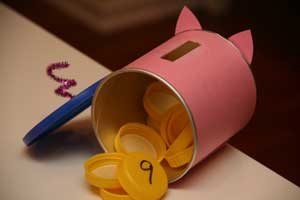 piggy bank counting craft