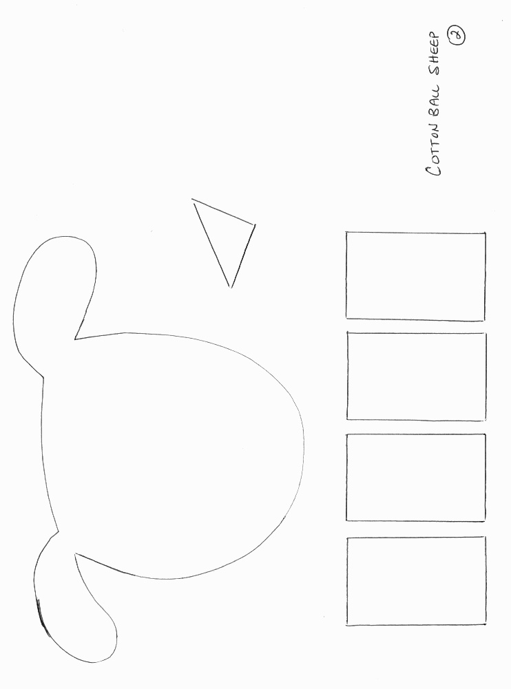 lamb cut out template - printable sheep templates cotton balls search results