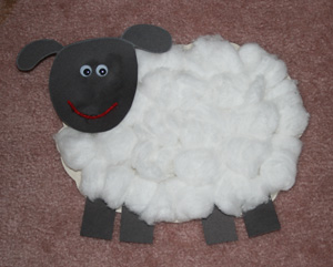 kids sheep craft