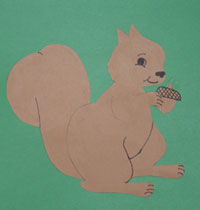 kids squirrel craft