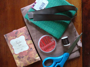 apple sewing project materials