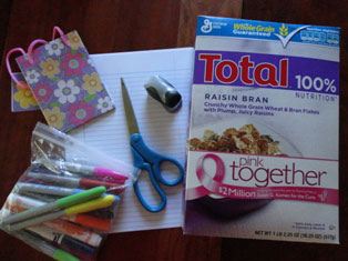 notebook craft materials