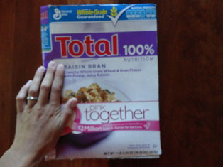 cereal box project