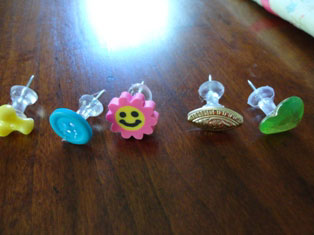 decorated tacks