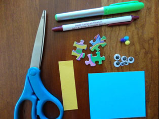 puzzle pieces magnet craft materials