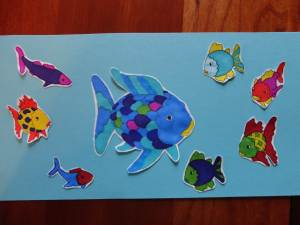 colored rainbow fish craft