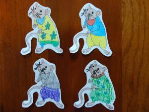paper mice craft