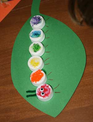 kids caterpillar craft