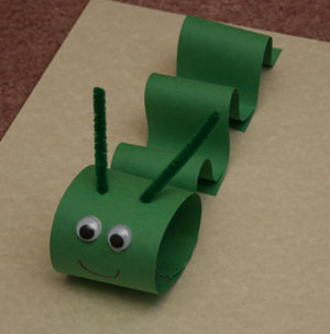 paper inch worm craft