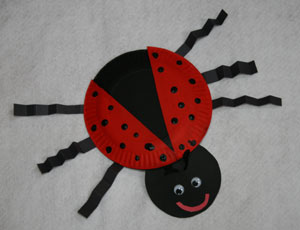 Craft Ideas Images on How To Make Your Paper Plate Ladybug