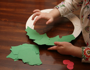 preschool christmas wreath craft